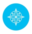 Compass wind rose line icon vector image