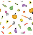 cute vegetable background vector image vector image