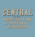 decorative vintage retro typeface font typeface vector image vector image
