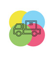 delivery truck icon - shipping symbol vector image