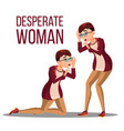 desperate woman stress desperate person vector image