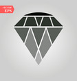 diamond icon diamond icon on white background vector image