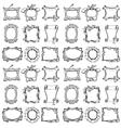 Doodle frames Seamless pattern vector image