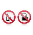 Drinking problem - no alcohol sign vector image vector image