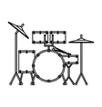 drums battery isolated icon vector image vector image