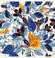 elegant vintage seamless floral pattern crocus vector image vector image