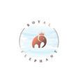 elephant king logo watercolor rounded circle logo vector image vector image