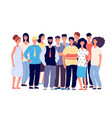 employee group portrait young smiling people vector image vector image