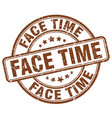 face time brown grunge stamp