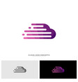 fast cloud logo design concept tech cloud logo vector image vector image