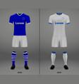 football kit of hoffenheim 2018-19 shirt template vector image vector image