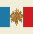 french coat arms and flag vector image