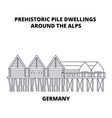 germany prehistoric pile dwellings around the vector image