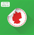 germany sticker map icon business concept germany vector image vector image