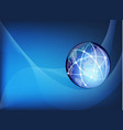 global business network background vector image vector image