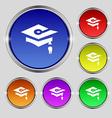 Graduation icon sign Round symbol on bright vector image vector image
