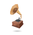 Gramophone abstract isolated vector image