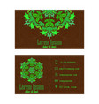 green visiting card abstract creative business vector image