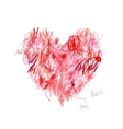 Heart shape pencil drawing for your design vector image