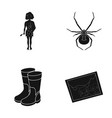 history nature art and other web icon in black vector image vector image