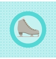 Ice skating flat icon vector image vector image