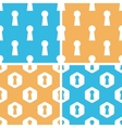 Keyhole pattern set colored vector image vector image