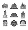 labels or logos with pictures different modern vector image