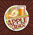 logo for apple juice vector image vector image