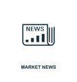 market news icon premium style design from vector image vector image