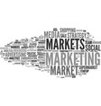 markets word cloud concept vector image vector image