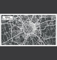 milan italy city map in retro style outline map vector image vector image