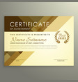 modern certificate design in premium style vector image vector image
