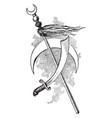 mohammedan emblem vintage vector image