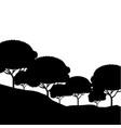 nature landscape background vector image vector image