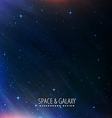 night sky universe background vector image vector image
