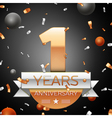 One years anniversary celebration background with vector image