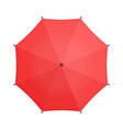red umbrella top view vector image vector image