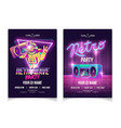 retro wave music nightclub party poster vector image