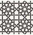 Seamless Black White Geometric Inrerlacing vector image vector image