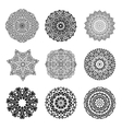 Set Mandalas Round Ornament Indian or Islamic vector image
