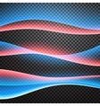 Set of glowing waves Transparent light effects vector image