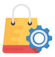 shopping technology flat icon vector image vector image