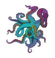 sketch cartoon gradient octopus tentacles vector image vector image