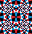 Spiral red and blue whirls seamless pattern vector image vector image