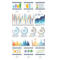 statistics in visual form charts and flowcharts vector image vector image