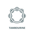 tambourine line icon linear concept vector image vector image