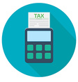tax calculator icon vector image
