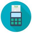 tax calculator icon vector image vector image