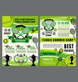 tennis sport school camp game tournament vector image vector image
