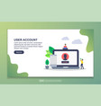user account concept with tiny people character vector image